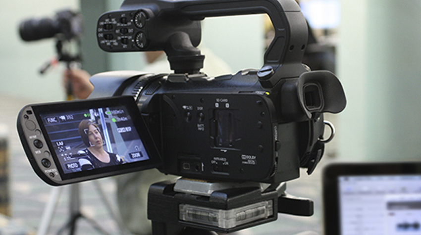 Photo of a video camera.